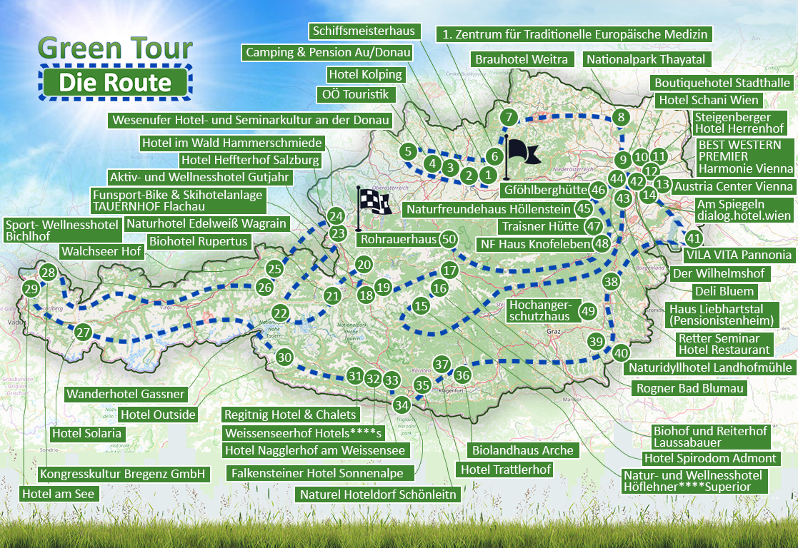 Green Tours - Route